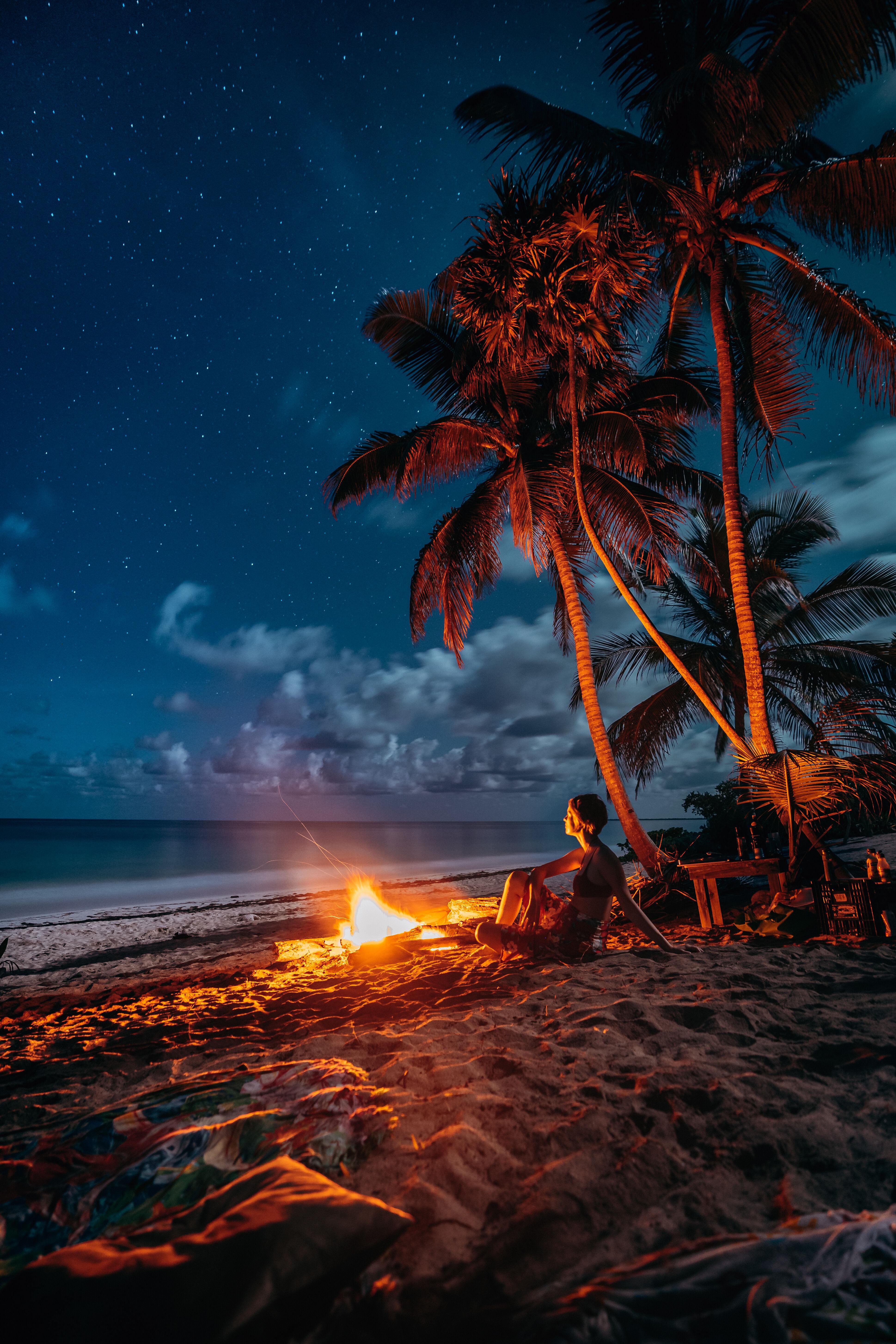 Uma noite na praia em Tulum, Quintana Roo